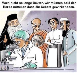 Religiöse warten auf Wissenschafter