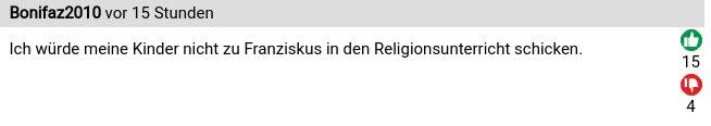 Reaktionen auf die päpstliche Billigung der homosexuellen Zivilehe 5