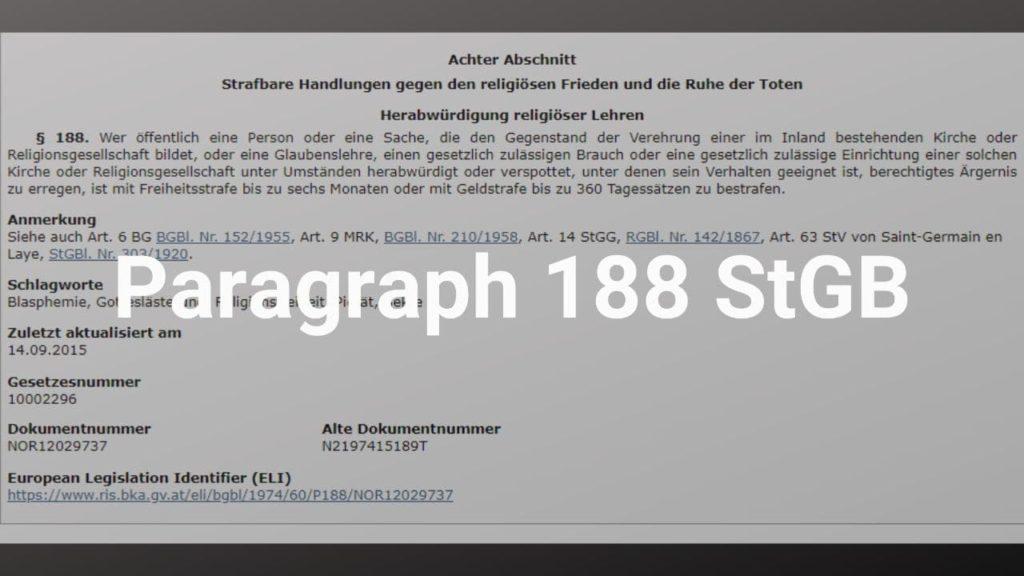 §188StGB
